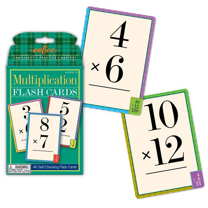 Juego educativo flash cards multiplicacion