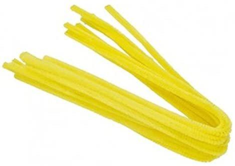 Varitas 30cm/6mm 50 unid amarillo