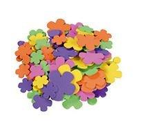 Figuras goma eva 1.8 mm 200 unid flores adhesivas