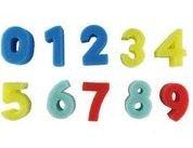Esponjas figuras de numeros 0 9 set 10 unid