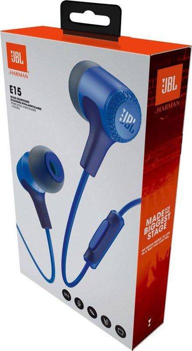 Auriculares con microfono e15 azul jbl