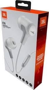 Auriculares con microfono e15 blanco jbl