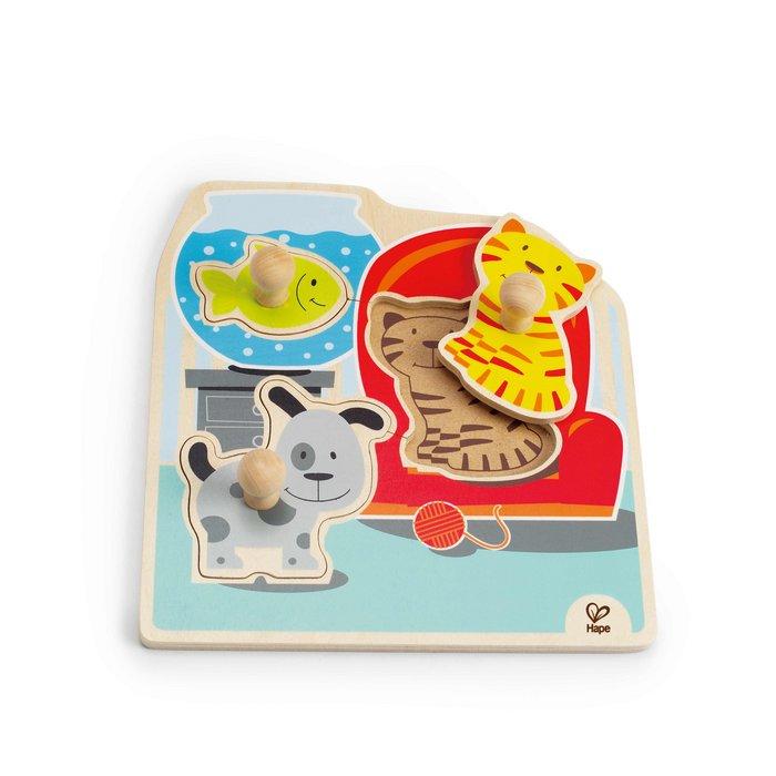 Juego hape my pets knob puzzle