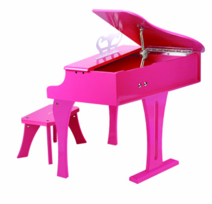Juego hape piano de cola rosa