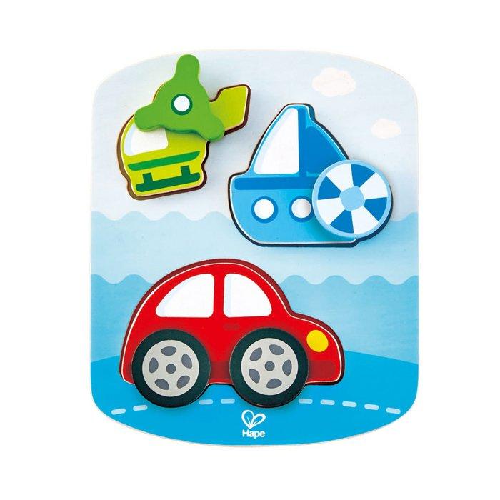Juego hape puzzle dinamico vehiculos