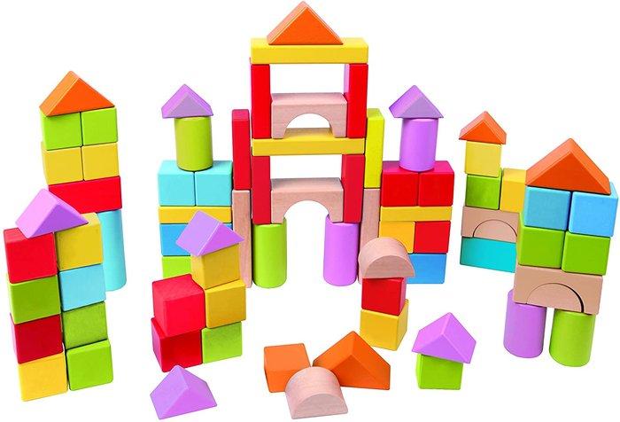 101 pieza bloques de madera