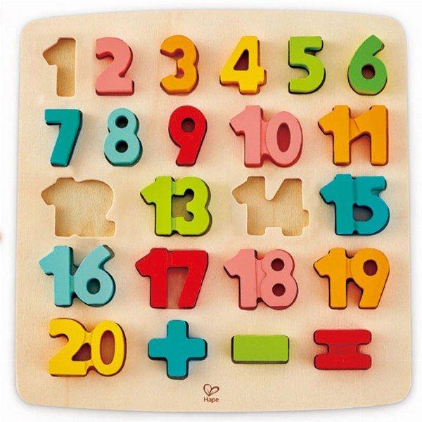 Puzle encajable matematicas