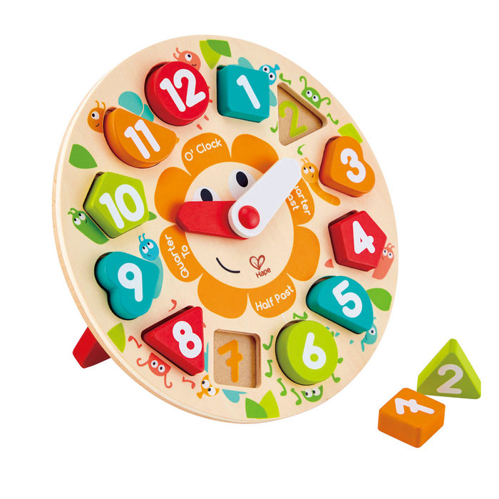 Juego hape puzzle infantil reloj
