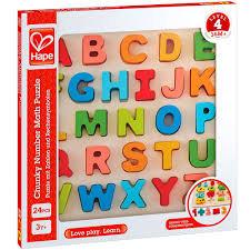 Juego hape puzzle encajable alfabeto mayusculas