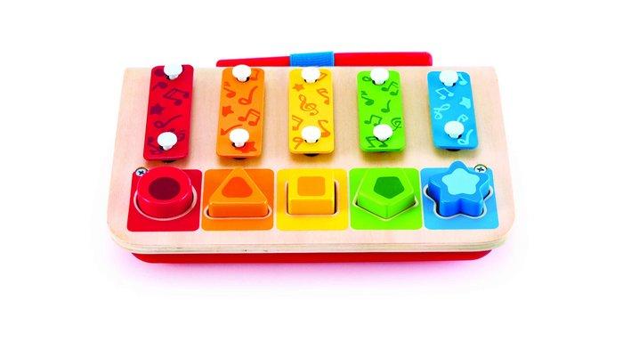Juego hape xilofono clasificador formas