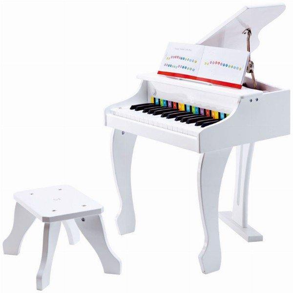 Juego hape deluxe gran piano blanco