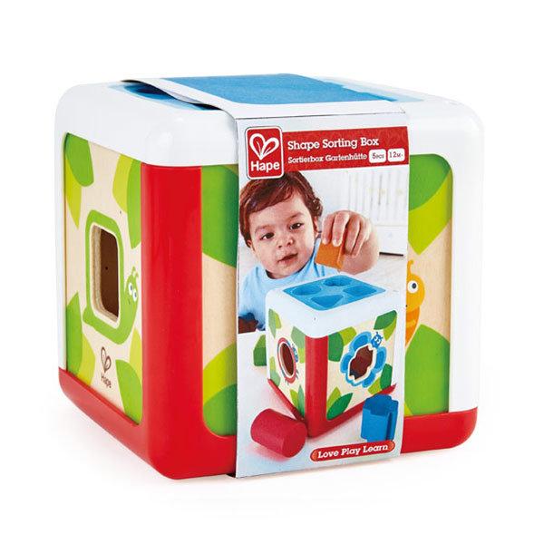 Juego hape cubo clasificador de formas y colores