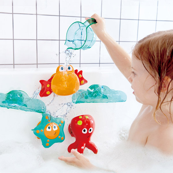 Juego hape cascada de baño