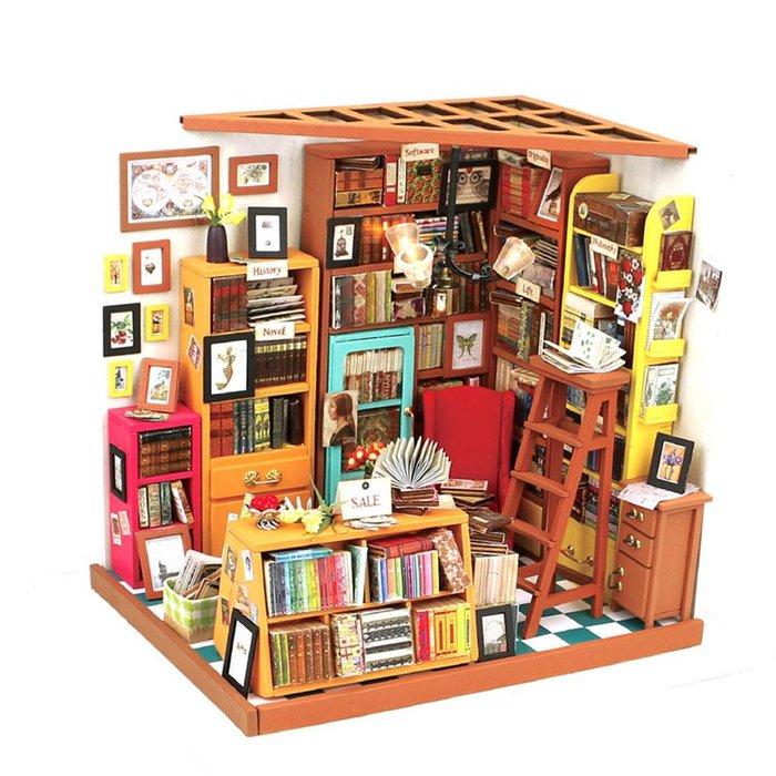 Maqueta libreria de sam
