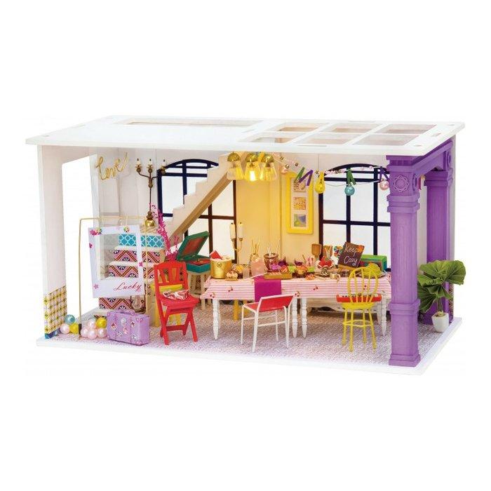 Maqueta casa sala de fiestas