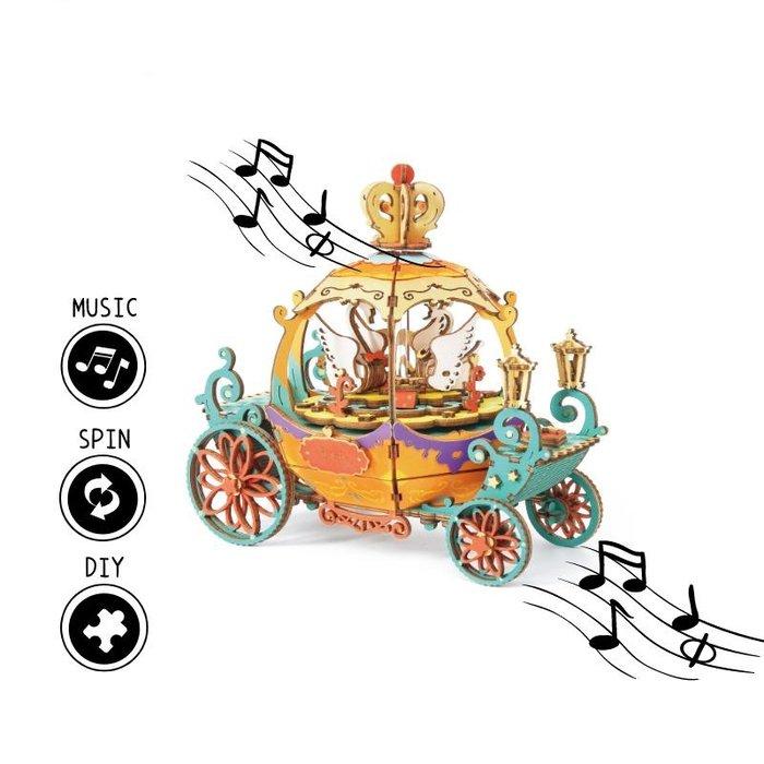 Maqueta caja de musica carroza fantasia