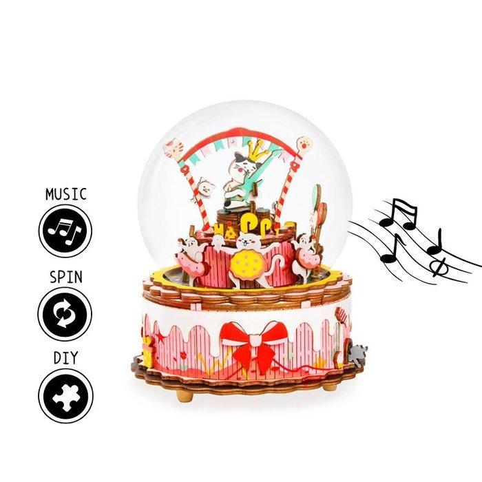 Maqueta caja de musica cumpleaÑos