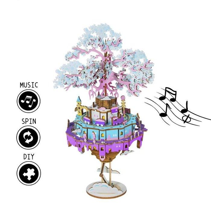 Maqueta caja de musica ciudad en el aire