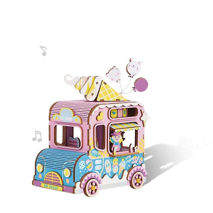 Maqueta caja de musica furgoneta de los helados