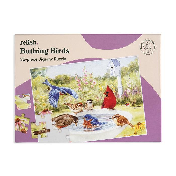 Puzzle especial bathing birds 35 p