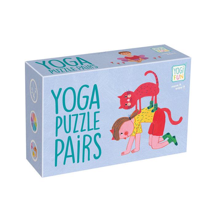 Juego educativo yoga puzzle pairs