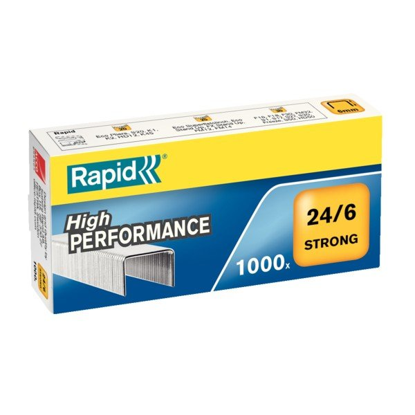 Grapas strong rapid 24/6 caja 1000