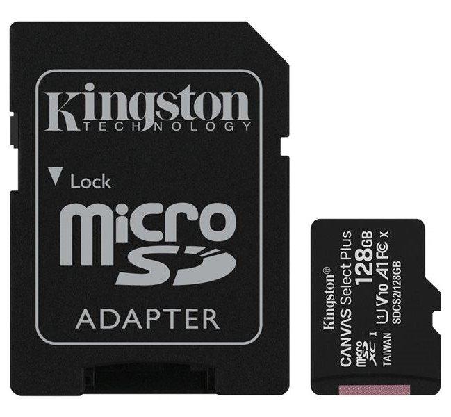 Tarjeta microsd kingston hc 128gb clase 10 canvas plus