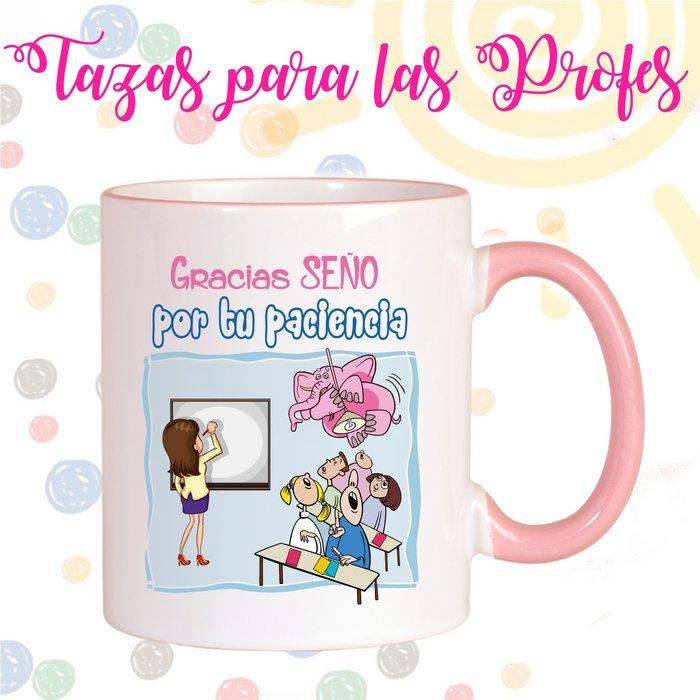 Taza ceramica profesores gracias seÑo por tu paciencia