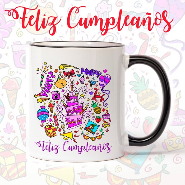 Taza de ceramica de cumpleaÑos party
