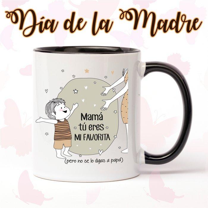 Taza de ceramica del dia de la madre eres la favorita