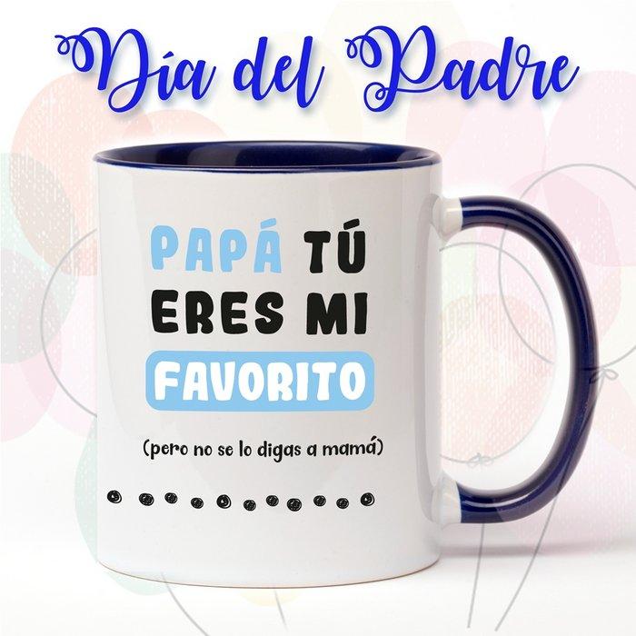 Taza de ceramica del dia del padre mi favorito