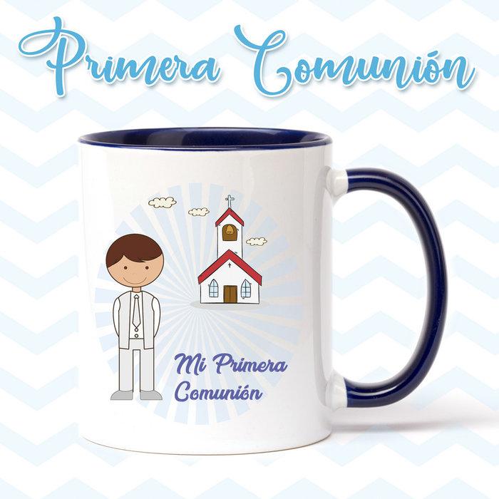 Taza de primera comunion niÑo iglesia