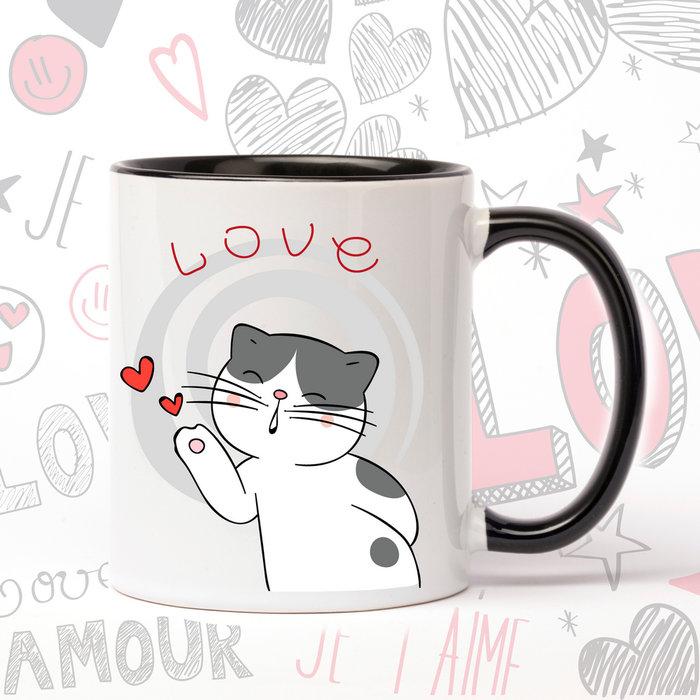 Taza de ceramica enamorados lovecat