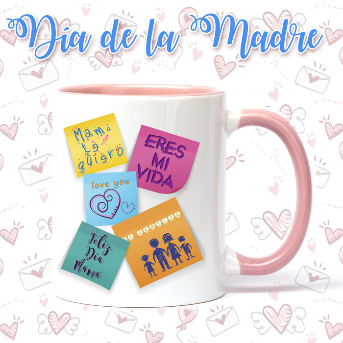 Taza de ceramica dia de la madre post-it