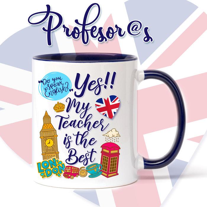 Taza de ceramica para profesores de ingles the best