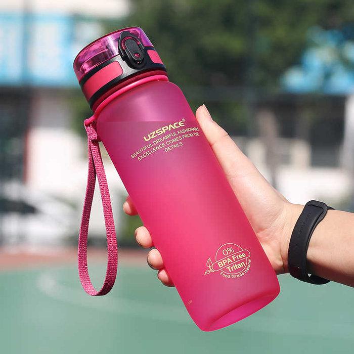 Botella tritan rosa 800 ml