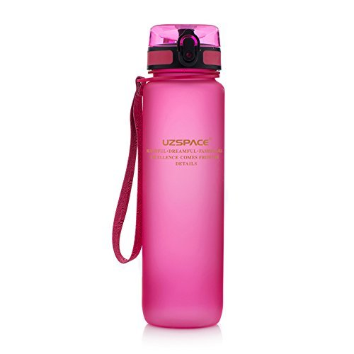 Botella tritan rosa 1l