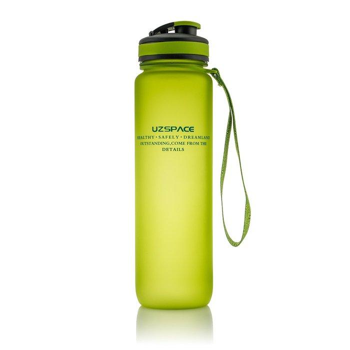 Botella tritan verde 1l