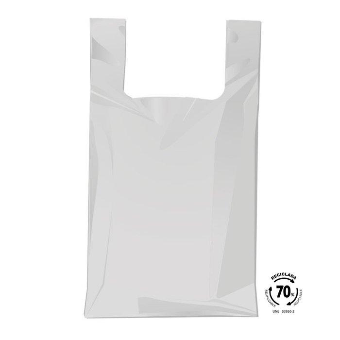 Bolsa camiseta 50x60 70% reciclado 100 unidades