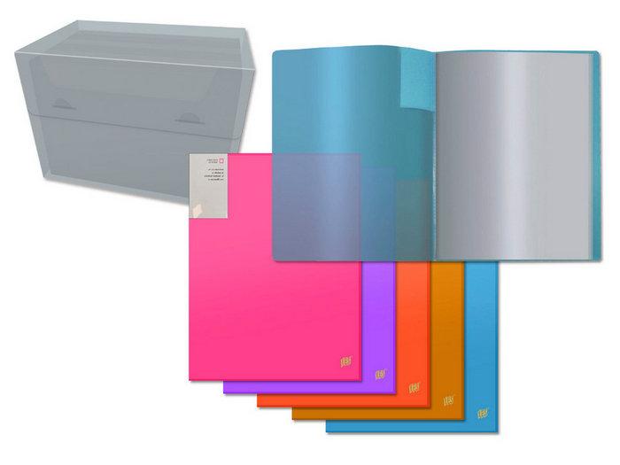 Carpeta a4 pp neon 20 fundas transparente