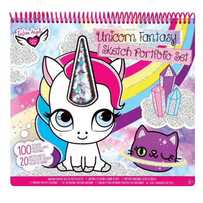 Fashion angels super album de dibujos fantasia del unicornio
