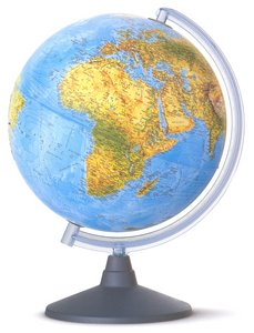 Esfera 25cm con luz elite azul