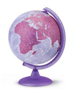 Esfera 25cm con luz morada