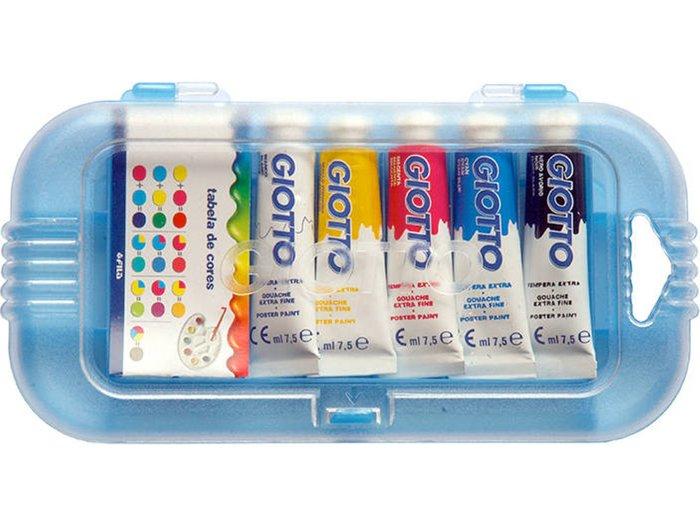 Tempera giotto tubo 7.5 ml 5 colores surtidos