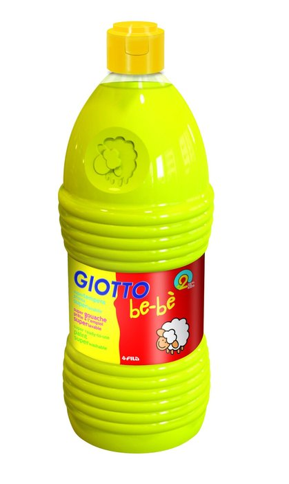 Tempera liquida 1000ml giotto bebe amarillo