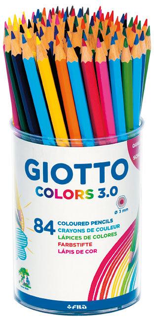 Lapiz de color giotto colors bote 84 ud