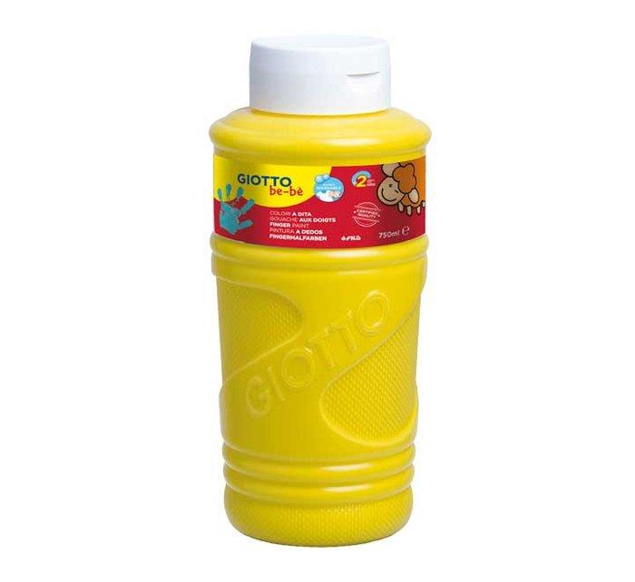 Pintura a dedos giotto amarillo primario 750 ml