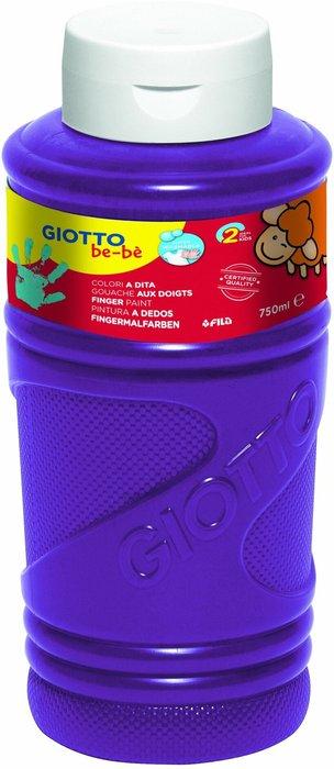Pintura a dedos giotto violeta 750 ml