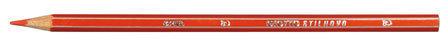 Lapiz de color giotto stilnovo rojo caja 12 ud