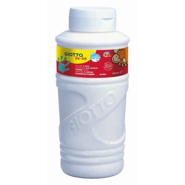 Pintura dedos giotto bebe 750 ml blanco